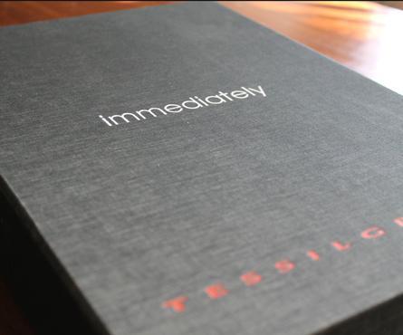 box portatessuti rivestito in tela melange, stampa a caldo ed applicazione plancia stampa 1 colore.  schede interne Fedrigoni bb stampate  a caldo 1 c