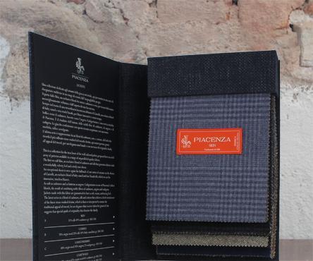 bunch rivestita in tessuto Piacenza - interno con applicazione plancia interna stampa serigrafica 1 colore